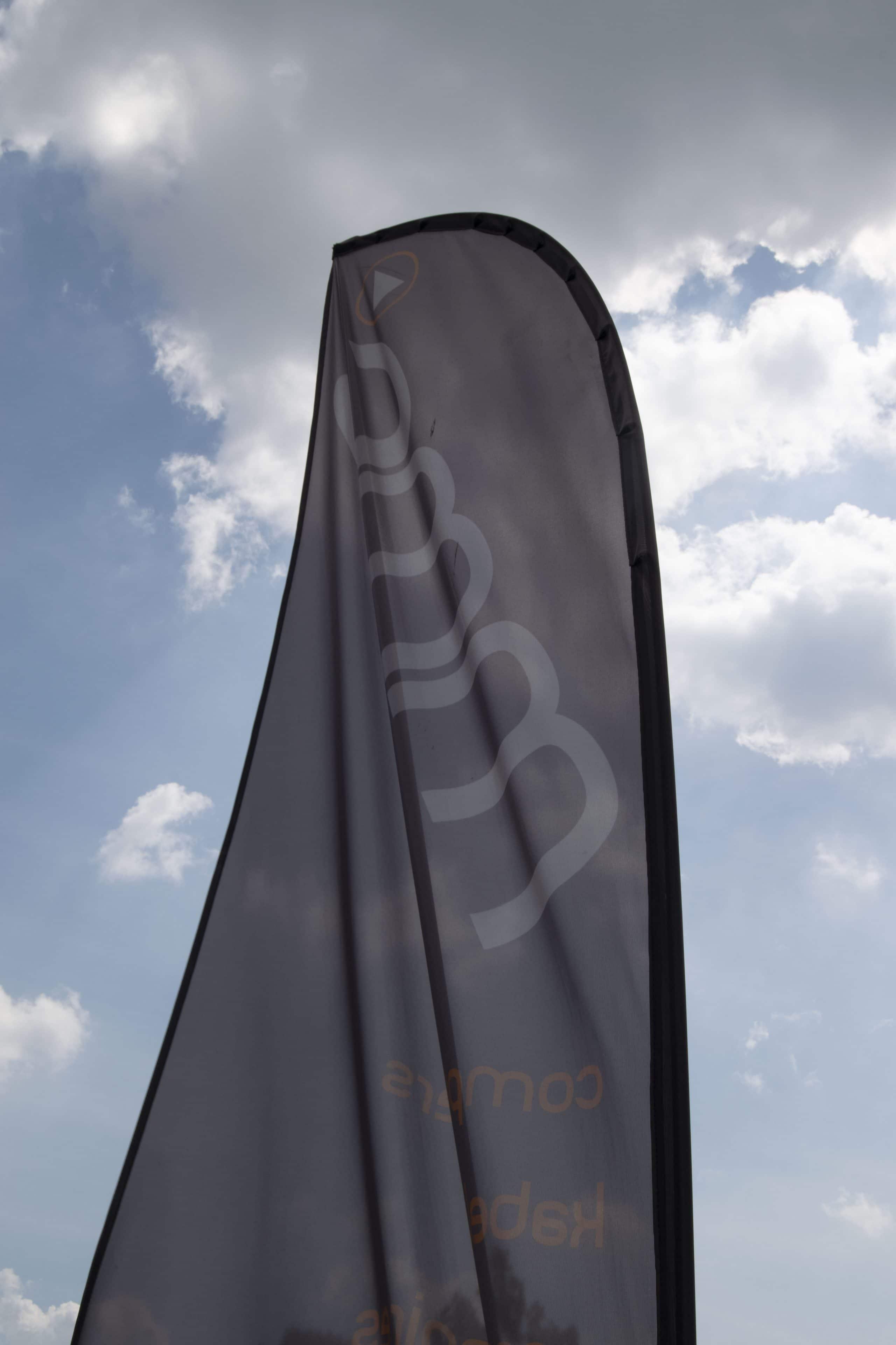 Vlag met ons logo.